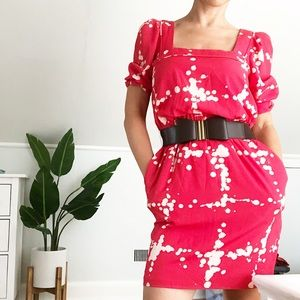 Jessica Simpson red dress with bow belt